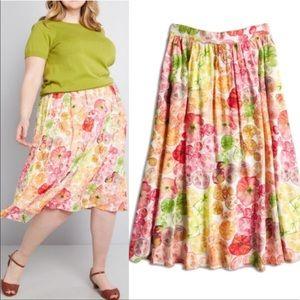 ModCloth Heirloom Tomato Midi Skirt
